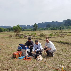 Resistivity Imaging Tomograph Working in Laos